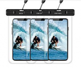 3 Pack Universal Waterproof Case Floating Phone Pouch Discount 40% coupon code off Amazon