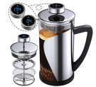 French Press Coffee Maker With Thermometer and Custom Alarms Discount 50% coupon code off Amazon