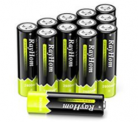 AA Rechargeable Batteries 2800mah Ni-MH Battery (12 Pack) Discount 50% coupon code off Amazon