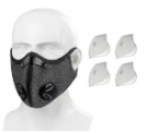 Reusable Face Cover with 4 Filters Discount 50% coupon code off Amazon