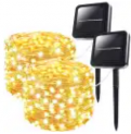 45.5-Foot Solar String Lights 2-Pack Discount 35% coupon code off Amazon