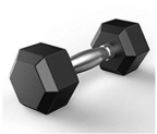 Barbell Dumbbells Free Weights Hex Rubber Dumbbell  Discount 80% coupon code off Amazon