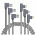 10-Foot MFi Certified Lightning Cable 3-Pack Discount 45% coupon code off Amazon