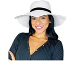 Womens Sun Straw Hat Wide Discount 45% coupon code off Amazon