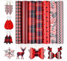 7PCS Double-Sided Plaid Faux Leather Sheets for Crafts Discount 50% coupon code off Amazon