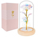 Rose Enchanted Flower with LED Light in Glass Dome Discount 60% coupon code off Amazon