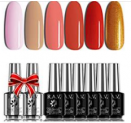 Nude Pink Red Gel Nail Polish Set Discount 50% off Amazon
