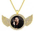 Custom Necklace with Picture Personalized Round Discount 50% off Amazon