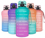 Motivational Half Gallon Water Bottle with Time Marker Discount 50% coupon code off Amazon