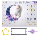 Soft Flannel Fabric Baby Monthly Milestone Blanket Boy and Girl Discount 60% coupon code off Amazon
