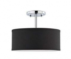 Fabric Drum Shade semi Flush Mount + PS Diffuser Discount 61% coupon code off Amazon