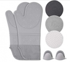 Silicone Oven Mitts with Quilted Liner Heat Resistant Pot Holders Discount 50% coupon code off Amazon