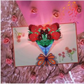 3D Carnation Pop Up Card Discount 50% coupon code off Amazon