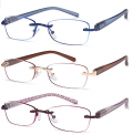 3-Pack Rimless Reading Glasses for Women Discount 50% coupon code off Amazon
