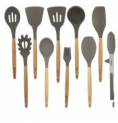 10-Piece Silicone Cooking Utensil Set Discount 45% coupon code off Amazon