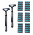 Men's Razors 2-Pack and 30 Blades Discount 75% coupon code off Amazon