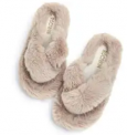 Women's Cross Band Plush Slippers Discount 50% coupon code off Amazon