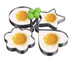4-pack, Egg Rings, Stainless Steel Pancake Mold Set Discount 50% coupon code off Amazon