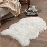 Small White Shag Fur Rug Discount 40% coupon code off Amazon