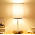 Grey Bedside Table Lamp Discount 50% off Amazon