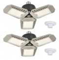 60W LED Garage Light 2-Pack Discount 50% coupon code off Amazon