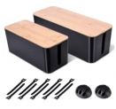 Cable Management Box 2-Pack Discount 50% coupon code off Amazon