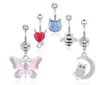 5Pcs Belly Button Rings Discount 55% coupon code off Amazon