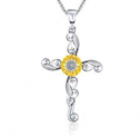 Sunflower Pendant Necklace for Women Discount 80% coupon code off Amazon