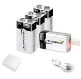 9V 650mAh USB Rechargeable Battery 4-Pack Discount 60% coupon code off Amazon