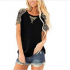 Women's Casual Short Sleeve Loose Swing Shirt V Discount 60% coupon code off Amazon