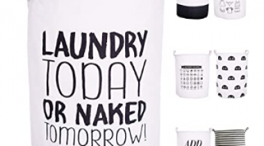 21.6″ Laundry Baskets Collapsible Waterproof Cotton Discount 50% coupon code off Amazon