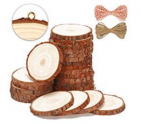 Natural Wood Slices 25 Pcs Discount 50% coupon code off Amazon