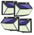 LED Solar Wall Light 4-Pack Discount 50% coupon code off Amazon