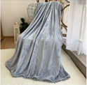 Flannel Throw Blanket with Pompom Tassel Cozy Bed Blanket Soft Blanke Discount 51% coupon code off Amazon