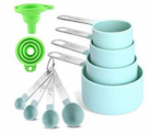 10Pcs Measuring Cup and Spoon Set Discount 50% coupon code off Amazon