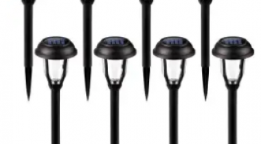 Outdoor LED Solar Path Lights 8-Pack Discount 50% coupon code off Amazon