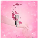 Heart Crystal Wind Chimes (Pink) Discount 50% coupon code off Amazon