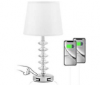 Touch USB Crystal Table Lamp Discount 50% coupon code off Amazon