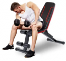Adjustable Flat-Folding Weight Bench Discount 30% coupon code off Amazon
